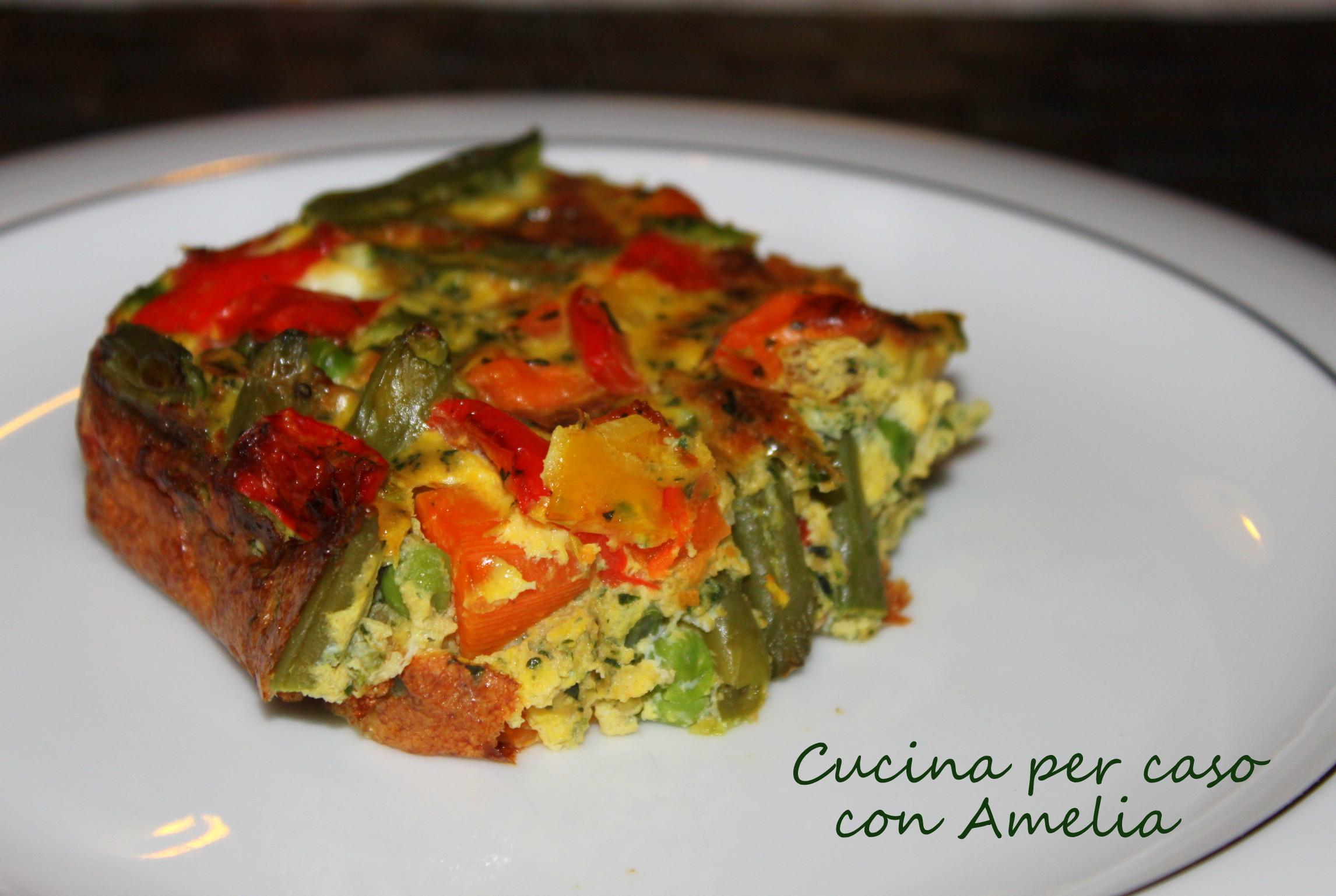 Tortino di verdure ricetta light cucina per caso con amelia for Cucina light
