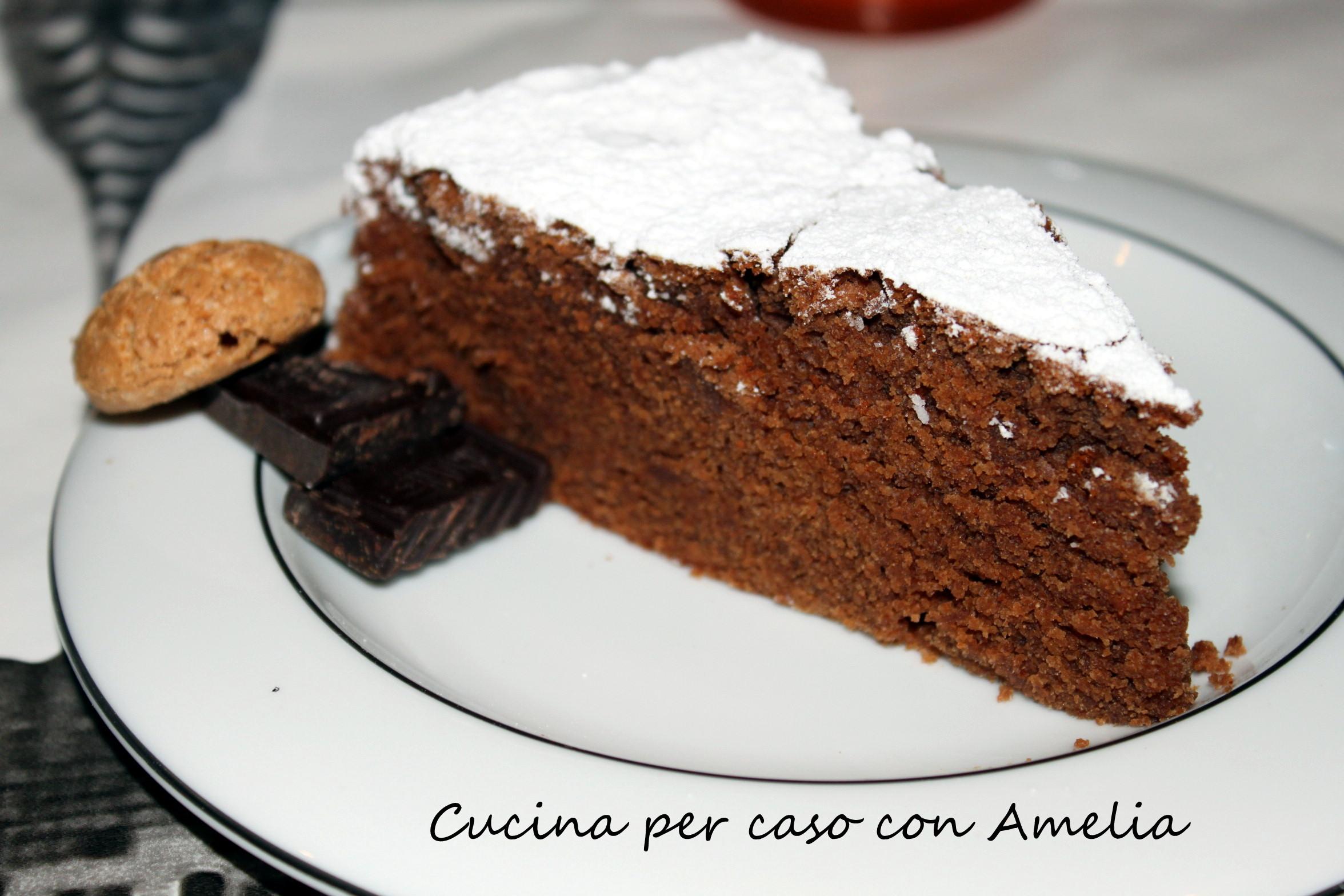 Torta Cioccolato Amaretti Ricetta Dolce Cucina Per Caso Con Amelia