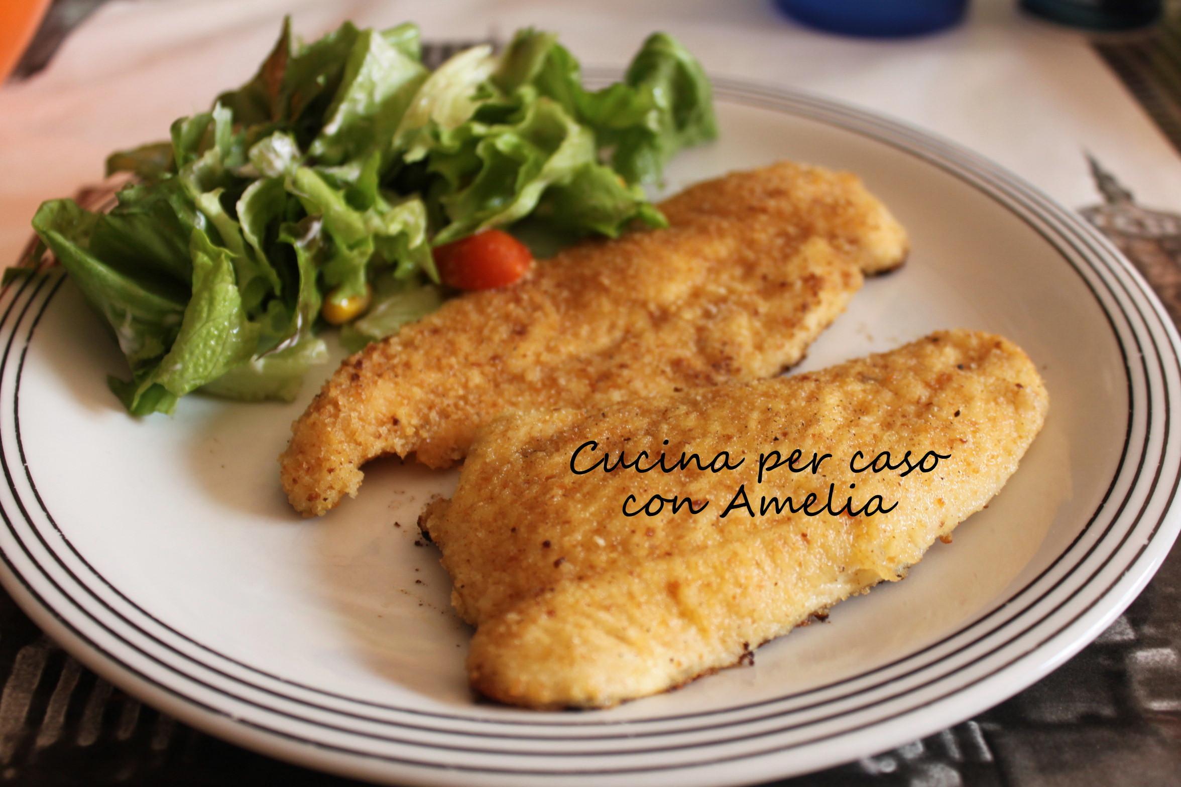 Cotoletta di pollo ricetta light cucina per caso con amelia