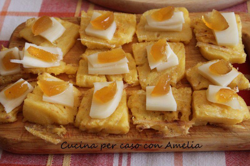 Polenta con formaggio e mostarda, ricetta