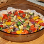 Torta salata con ratatouille di verdure, ricetta vegan