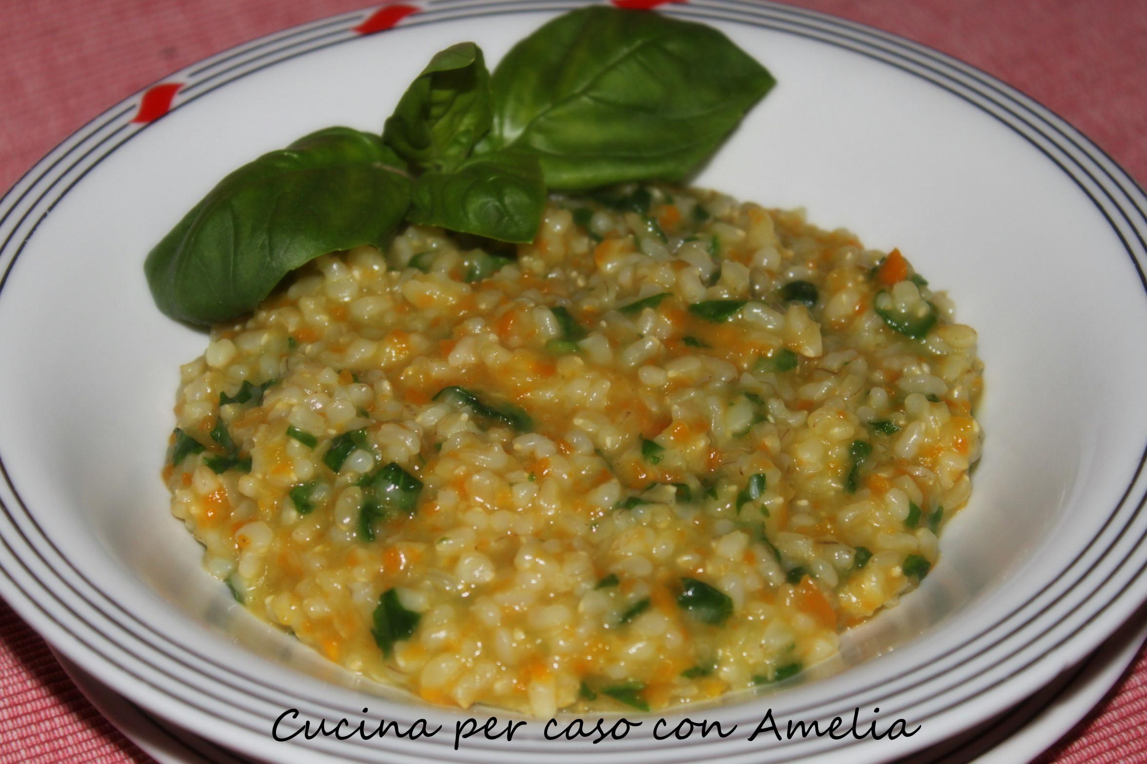Risotto al basilico ricetta primo piatto cucina per for Risotto ricette