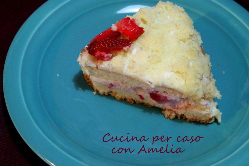 Torta mimosa alle fragole, ricetta dolce