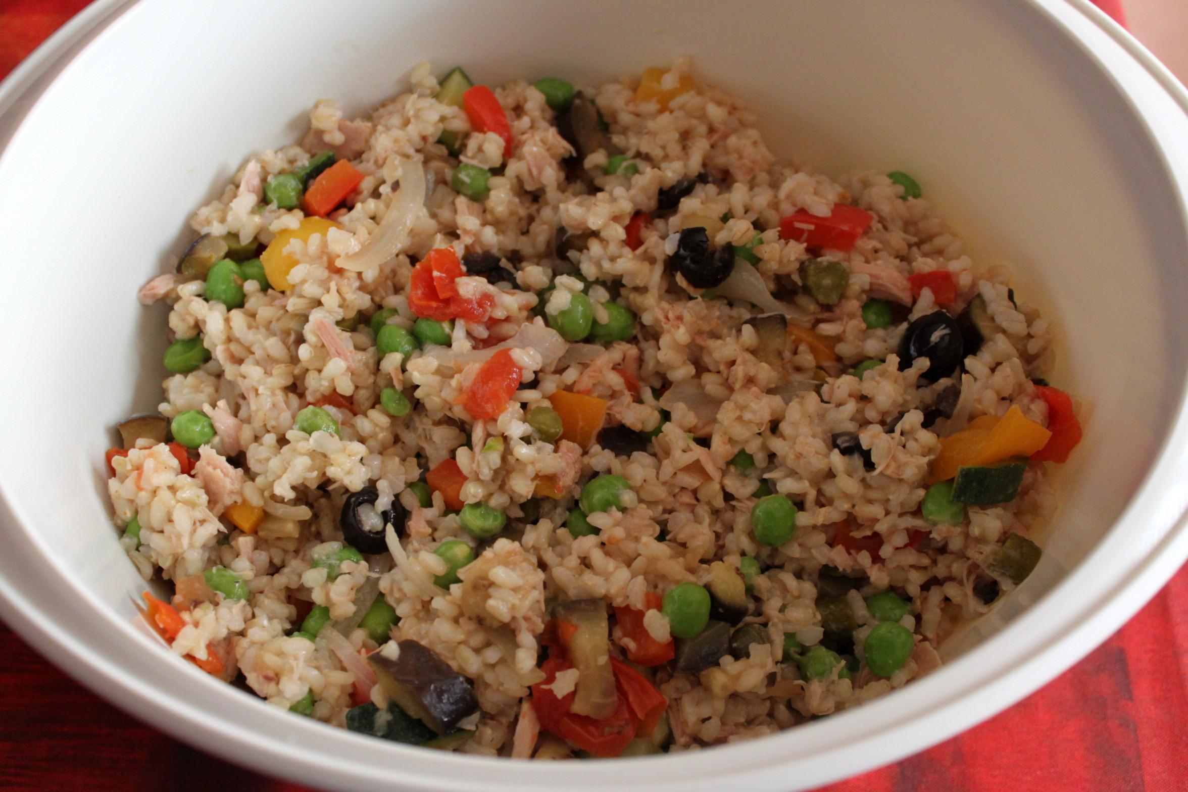 Insalata di riso integrale ricetta cucina per caso con for Ricette di riso