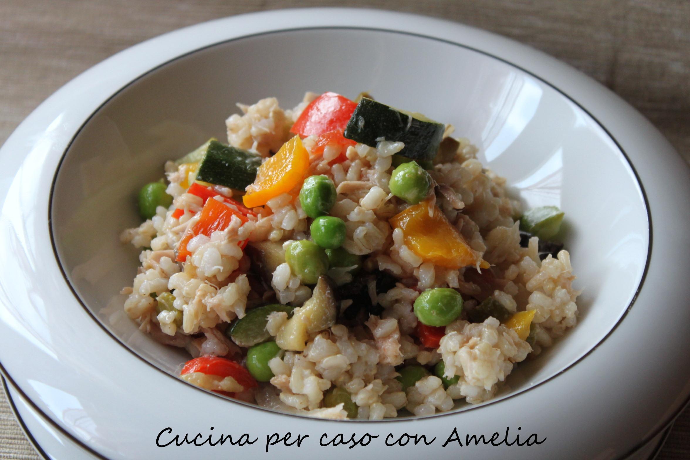 Insalata di riso integrale ricetta cucina per caso con for Cuisine integrale