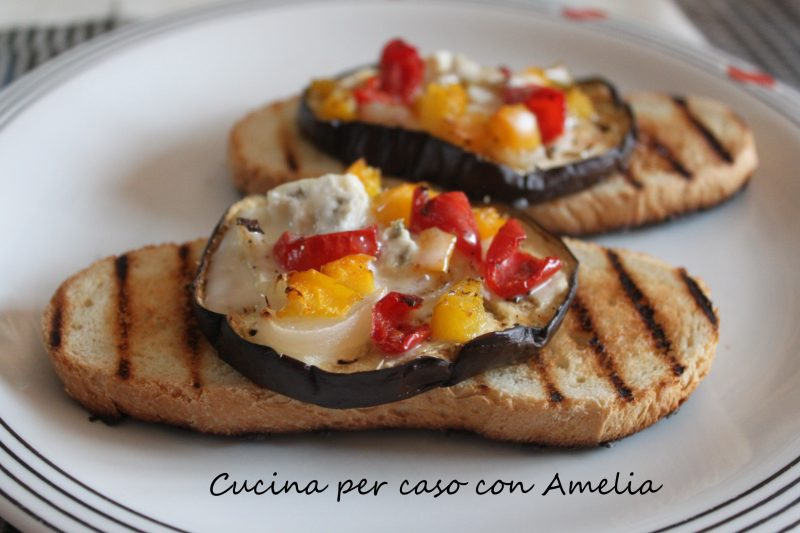 Pizzette di melanzane, ricetta light