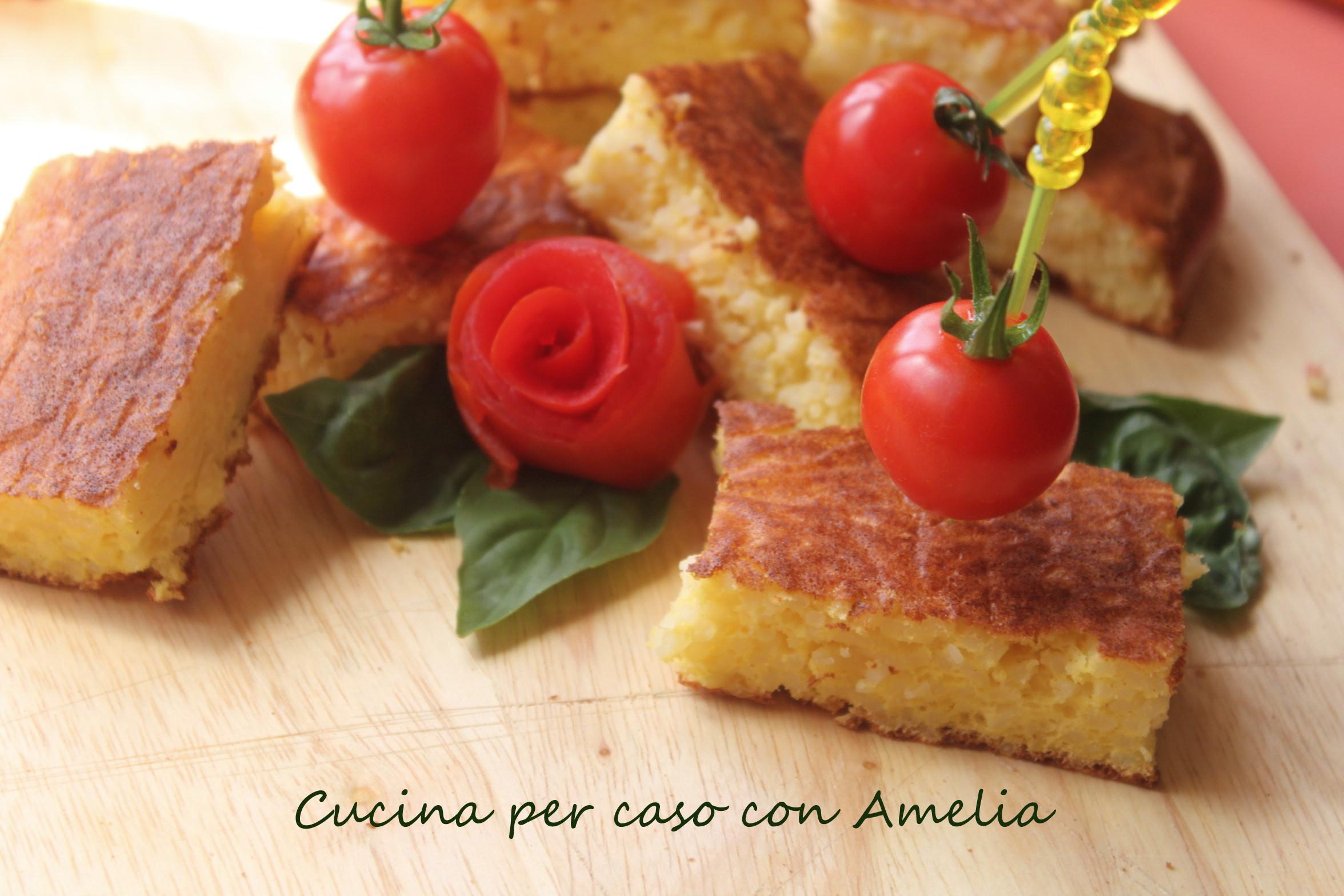 Cubetti di frittata di riso, ricetta   Cucina per caso con Amelia