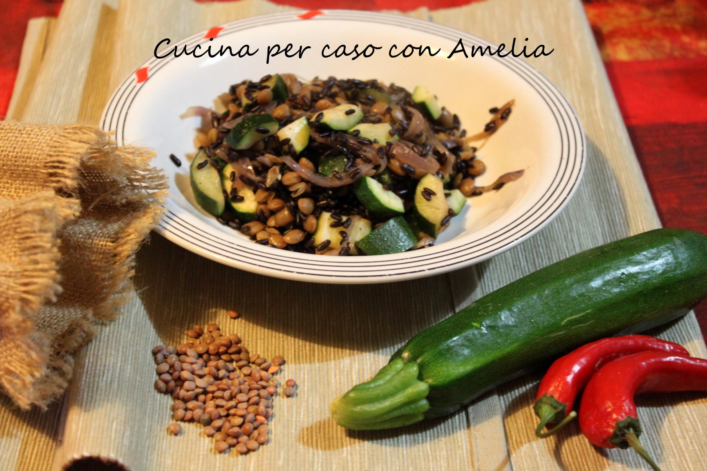 Estremamente Riso venere e lenticchie, ricetta vegan - Cucina per caso con Amelia VS49