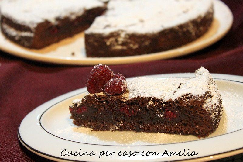 Torta al cioccolato con lamponi, ricetta