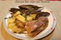 Pollo con carciofi e patate, ricetta