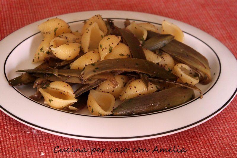 Pasta carciofi e coriandolo, ricetta