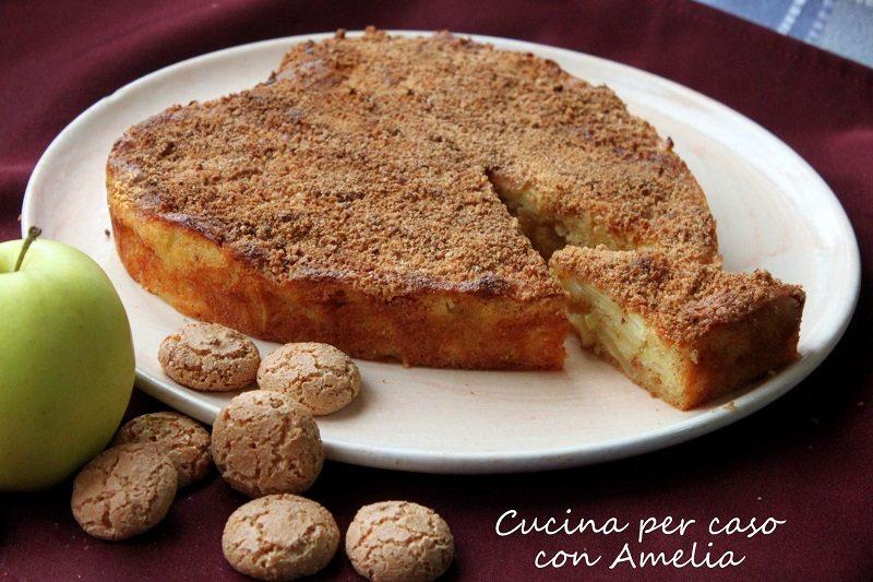 Torta di mele e amaretti, ricetta dolce