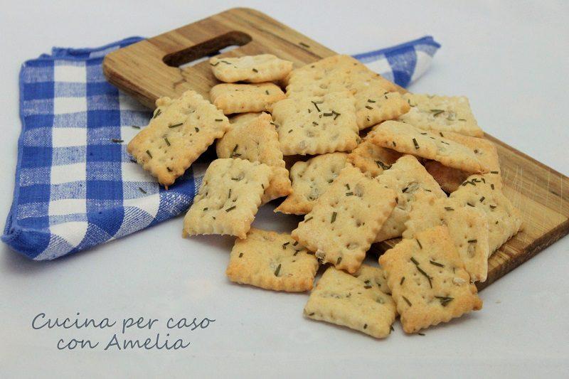 Crackers al rosmarino, ricetta salata