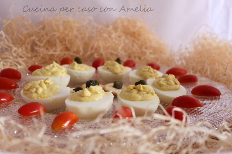 Uova sode farcite, ricetta antipasto