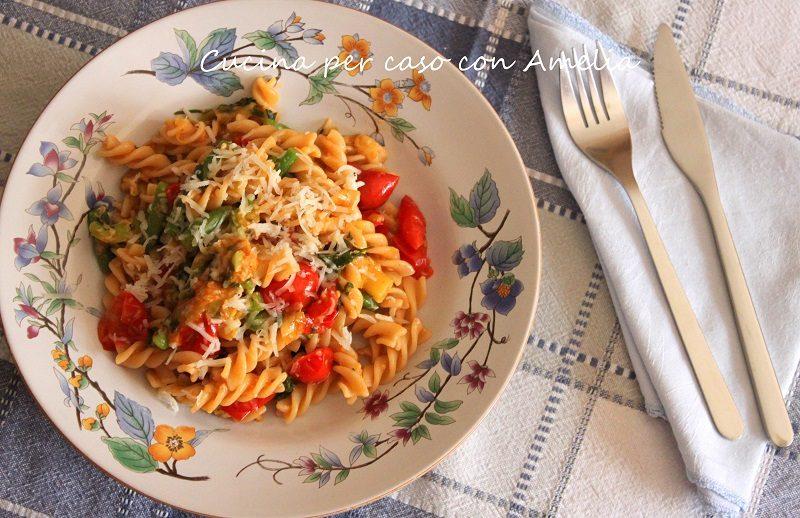 Pasta con pomodorini ciliegia, ricetta