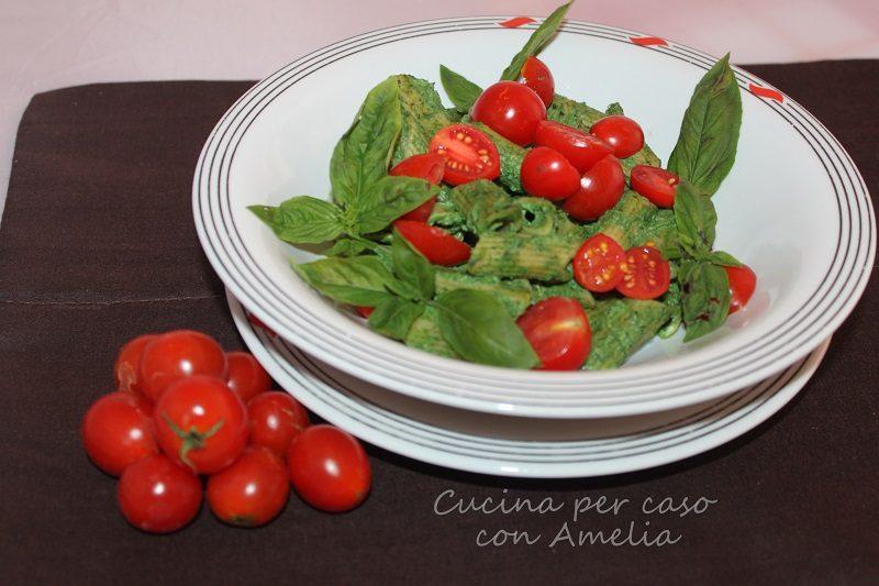 Pasta al pesto di ricotta e spinaci