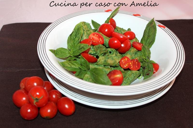 Pasta al pesto di ricotta e spinaci   Cucina per caso con Amelia