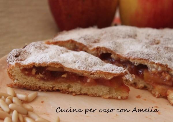 Torta strudel di mele, ricetta | Cucina per caso con Amelia