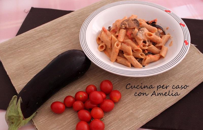 Pasta pomodorini e melanzane   Cucina per caso con Amelia