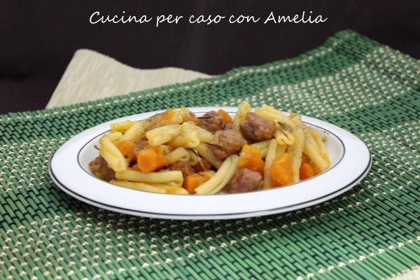 Caserecce zucca e salsiccia   Cucina per caso con Amelia