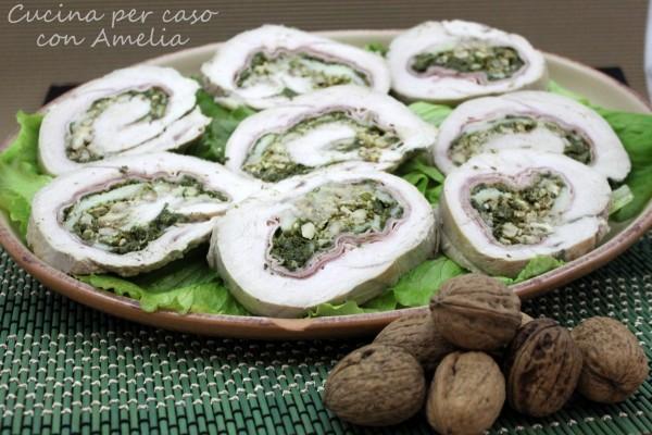 Arrotolato di tacchino ripieno, ricetta | Cucina per caso con Amelia