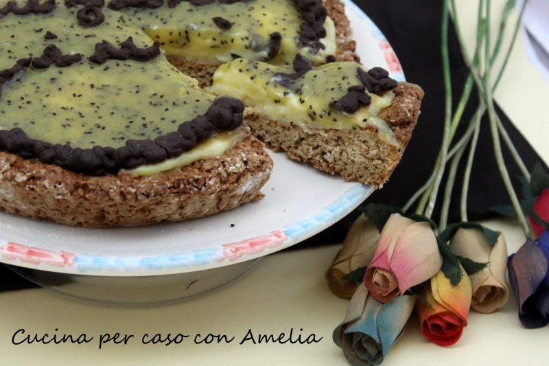 Torta con yogurt greco e kiwi