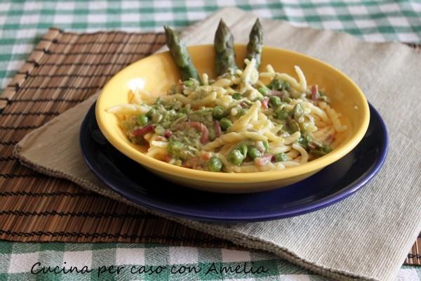 Trofie fave e asparagi, ricetta | Cucina per caso con Amelia
