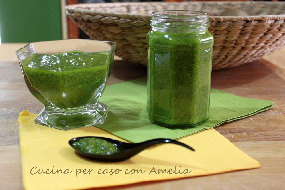 Pesto ricetta bimby - Cucina per caso con Amelia