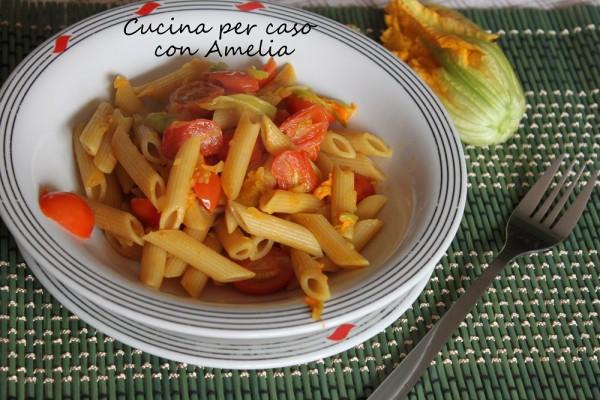 Pasta con fiori di zucchina, ricetta   Cucina per caso con Ame