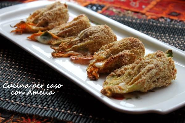 Fiori di zucchina al forno, ricetta | Cucina per caso con Amelia