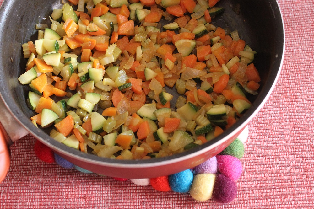 Tagliolini code di gambero e verdurine/Cucina per caso con Amelia