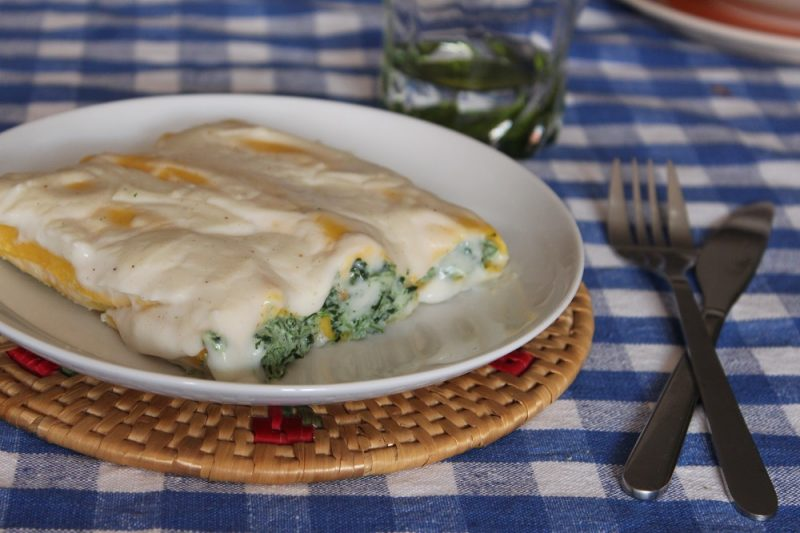 Cannelloni ricotta spinaci bimby