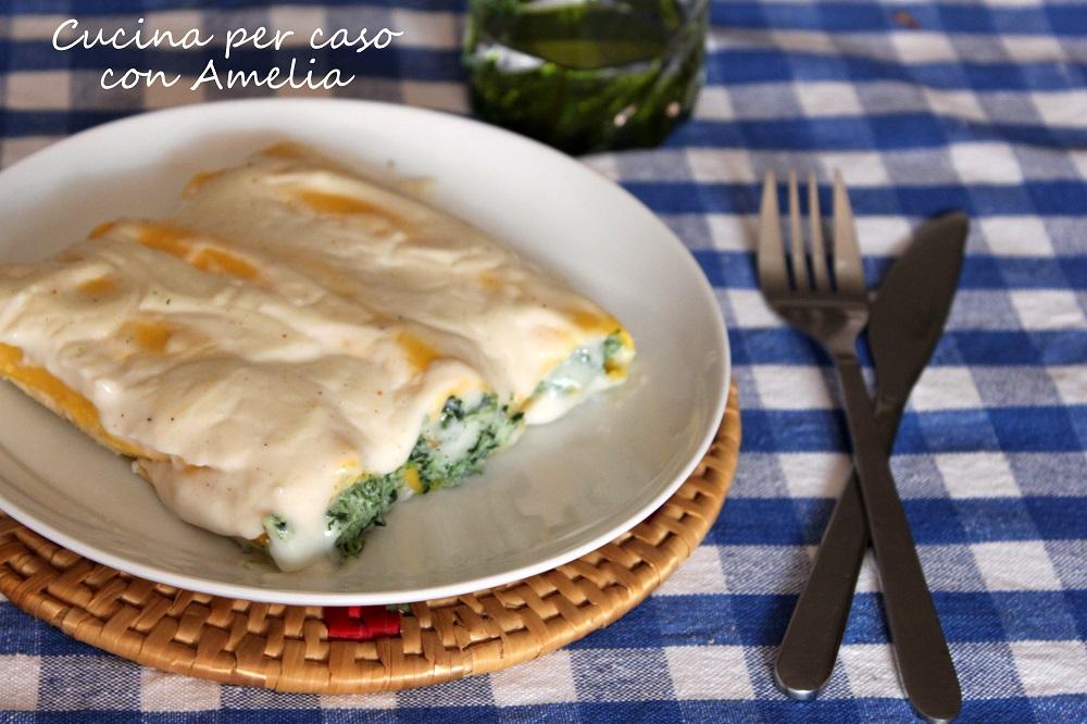 Cannelloni ricotta spinaci bimby / Cucina per caso con Amelia