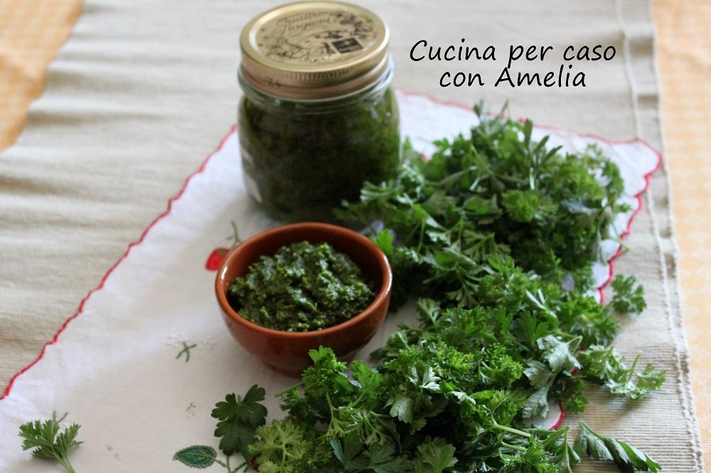 Salsa verde vegan, ricetta