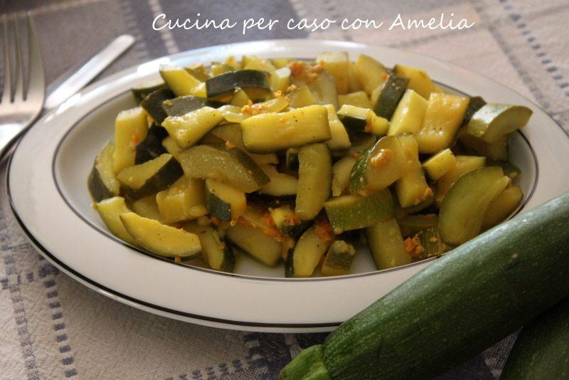 Zucchine allo zafferano, ricetta