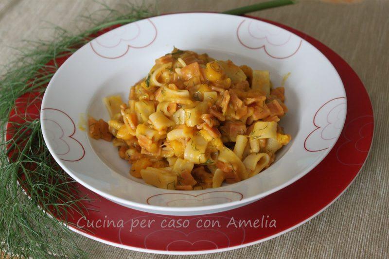 Pasta con zucca e semi di finocchio, ricetta