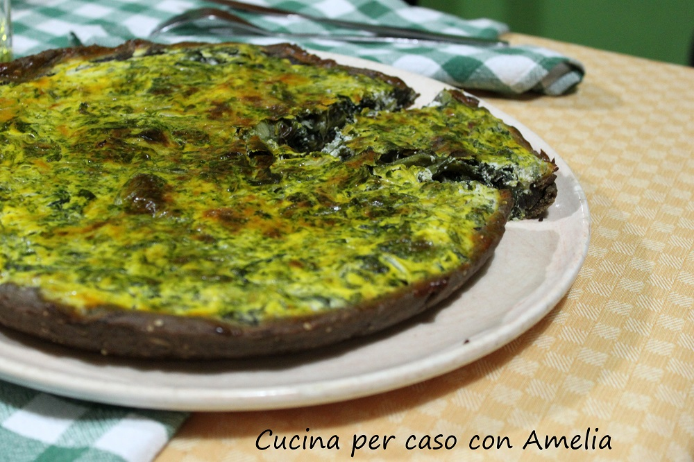 Torta salata ricotta e scarola, ricetta - Cucina per caso con Amelia