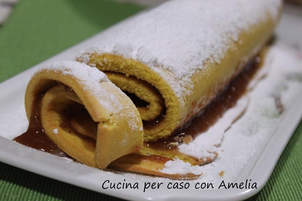 Rotolo dolce senza zucchero cucina per caso con amelia for Cucina dolce
