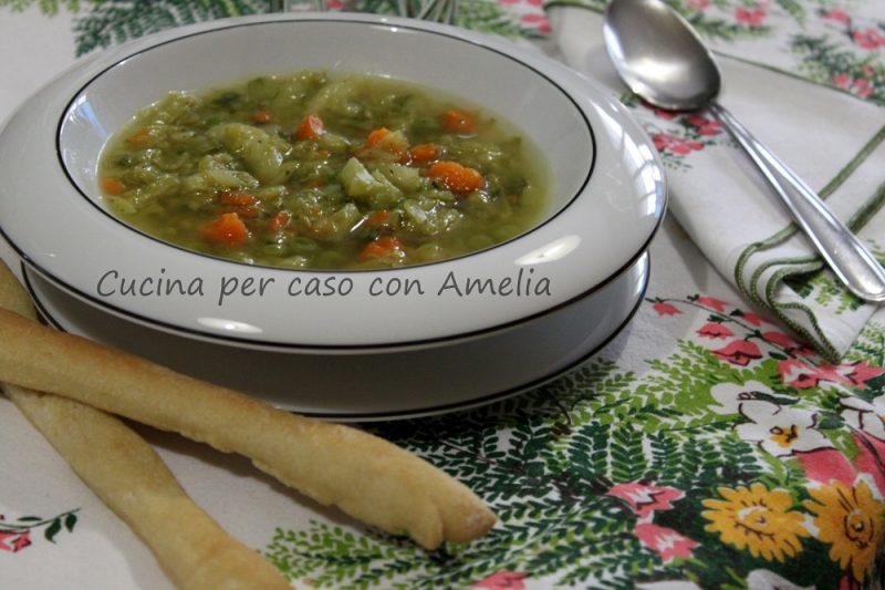 Minestrone di verdure con verza, ricetta