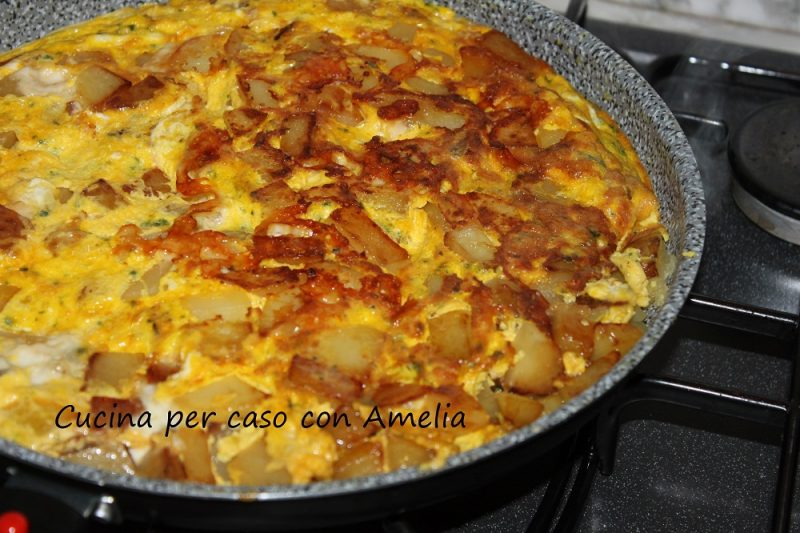 Frittata di patate e provola, ricetta