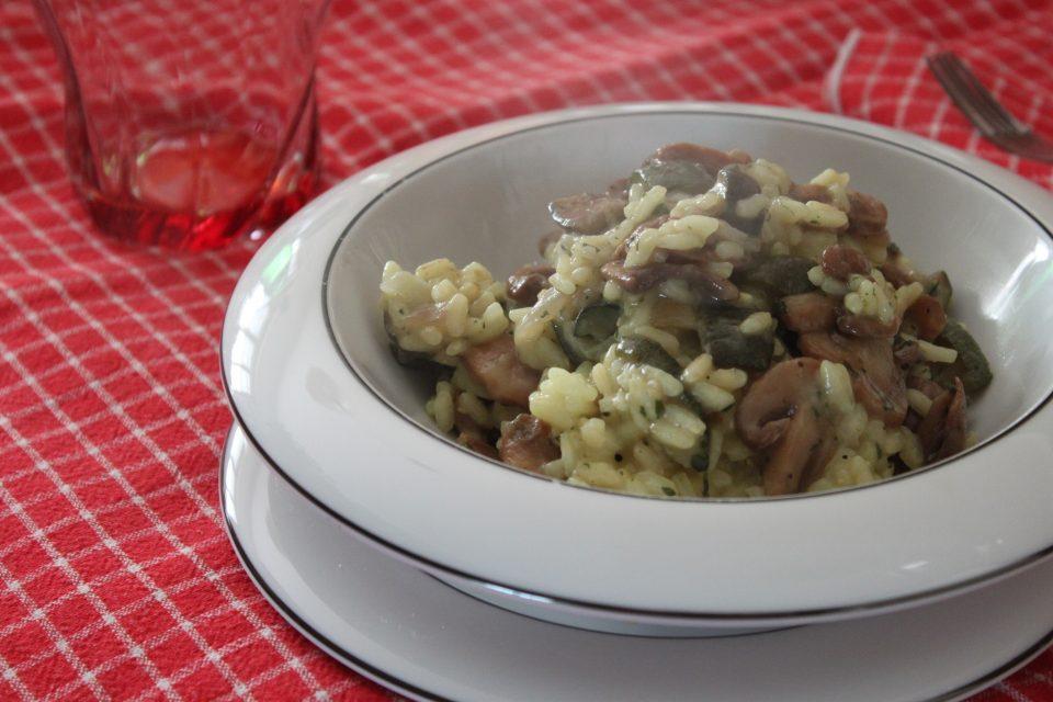 Risotto funghi zucchine, ricetta