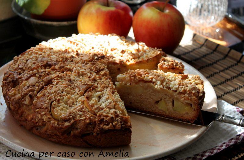 Torta di mele cannella e mandorle bimby | Cucina per caso con Amelia