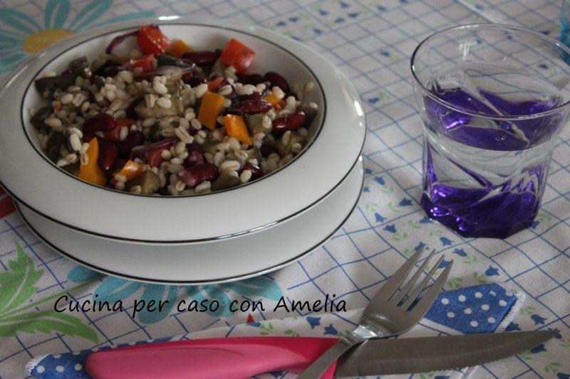 Orzo con melanzane e verdure, ricetta light