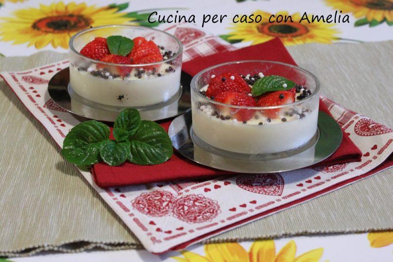 Budino light alla vaniglia con fragole