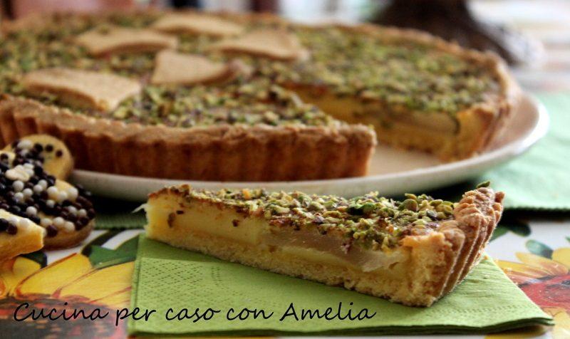 Crostata crema pistacchi, ricetta
