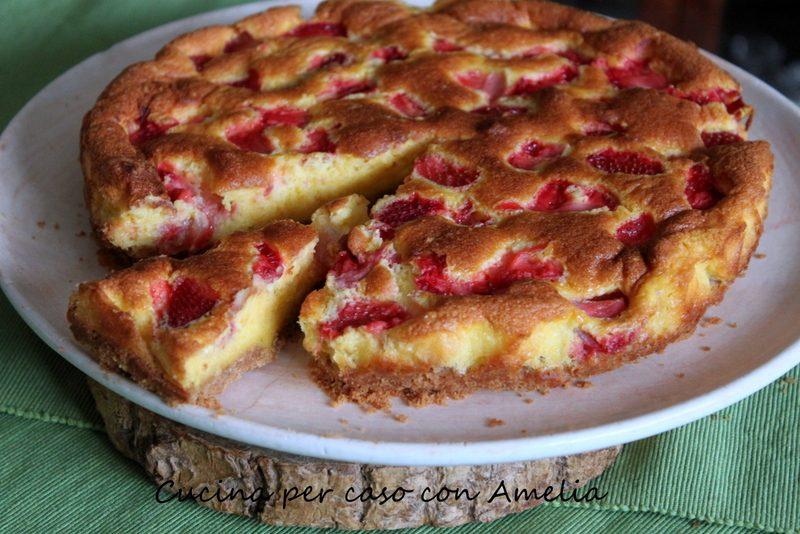 Torta alla robiola con fragole, ricetta