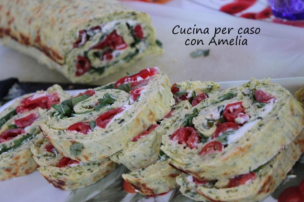 Rotolo di zucchine pomodorini e rucola - Cucina per caso con Amelia