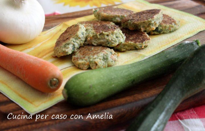 Frittelle di zucchine vegane
