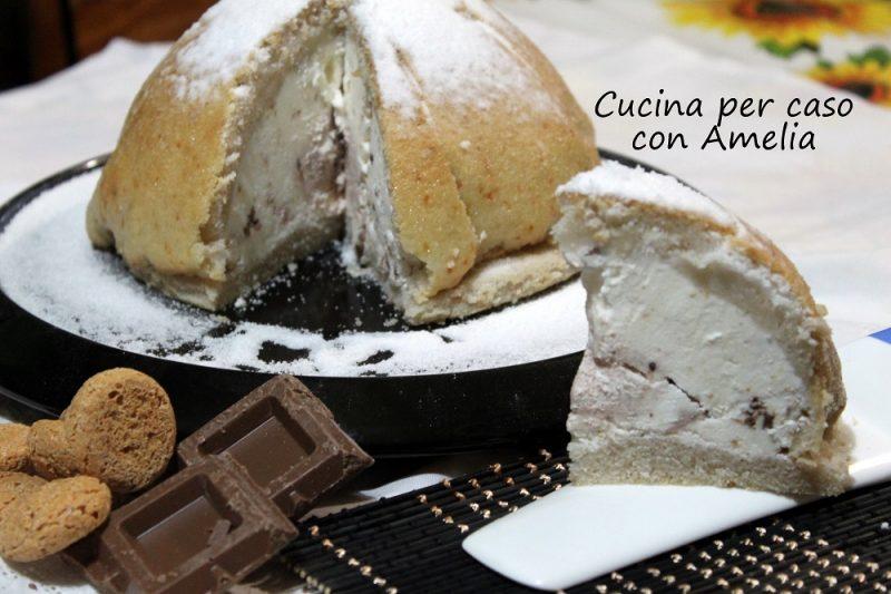 Zuccotto panna e cioccolato bimby