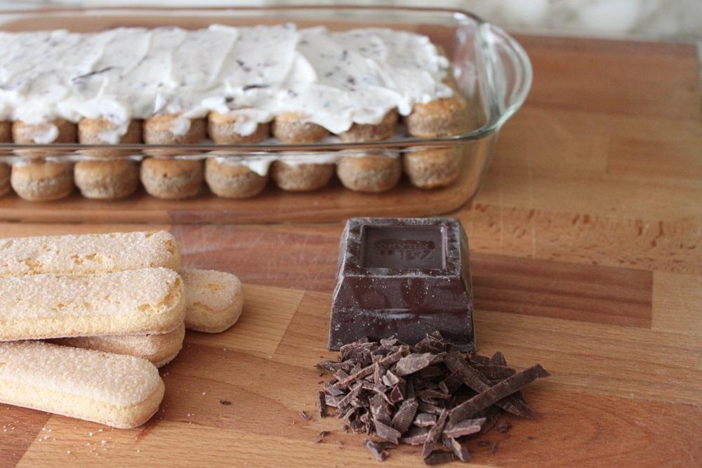 Tiramisu alla ricotta e cioccolato fondente - Cucina per caso con Amelia
